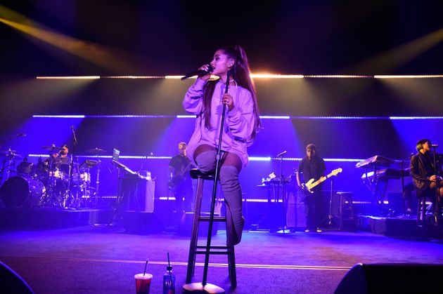 Ariana performing live in California over the