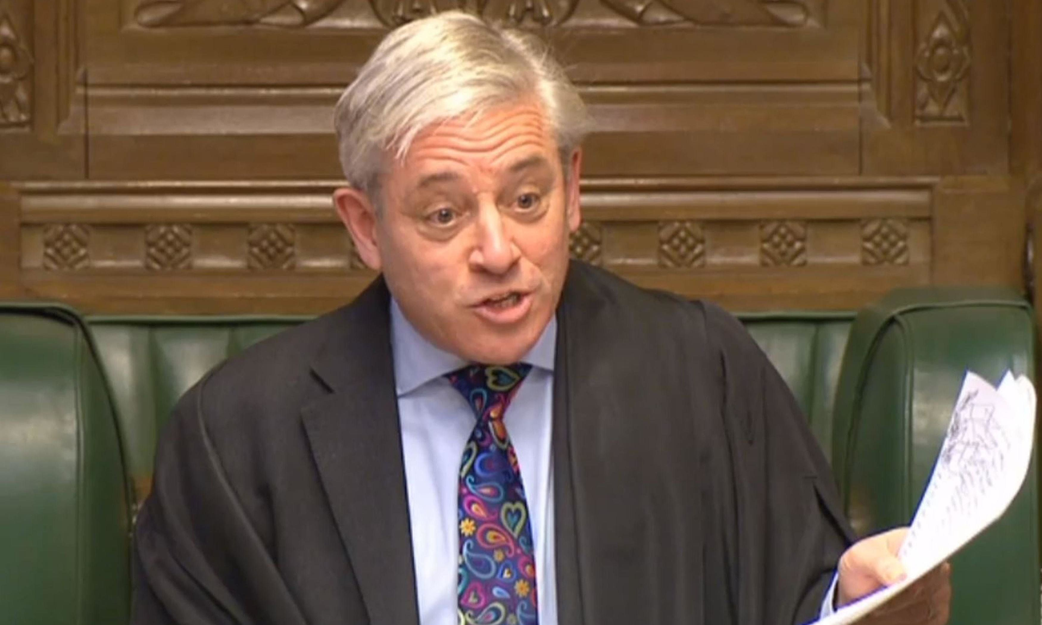 John Bercow faces down calls to resign over bullying claims class=