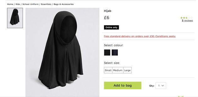 Marks & Spencer taclé sur les réseaux sociaux suite à la vente sur son site d'un hijab pour