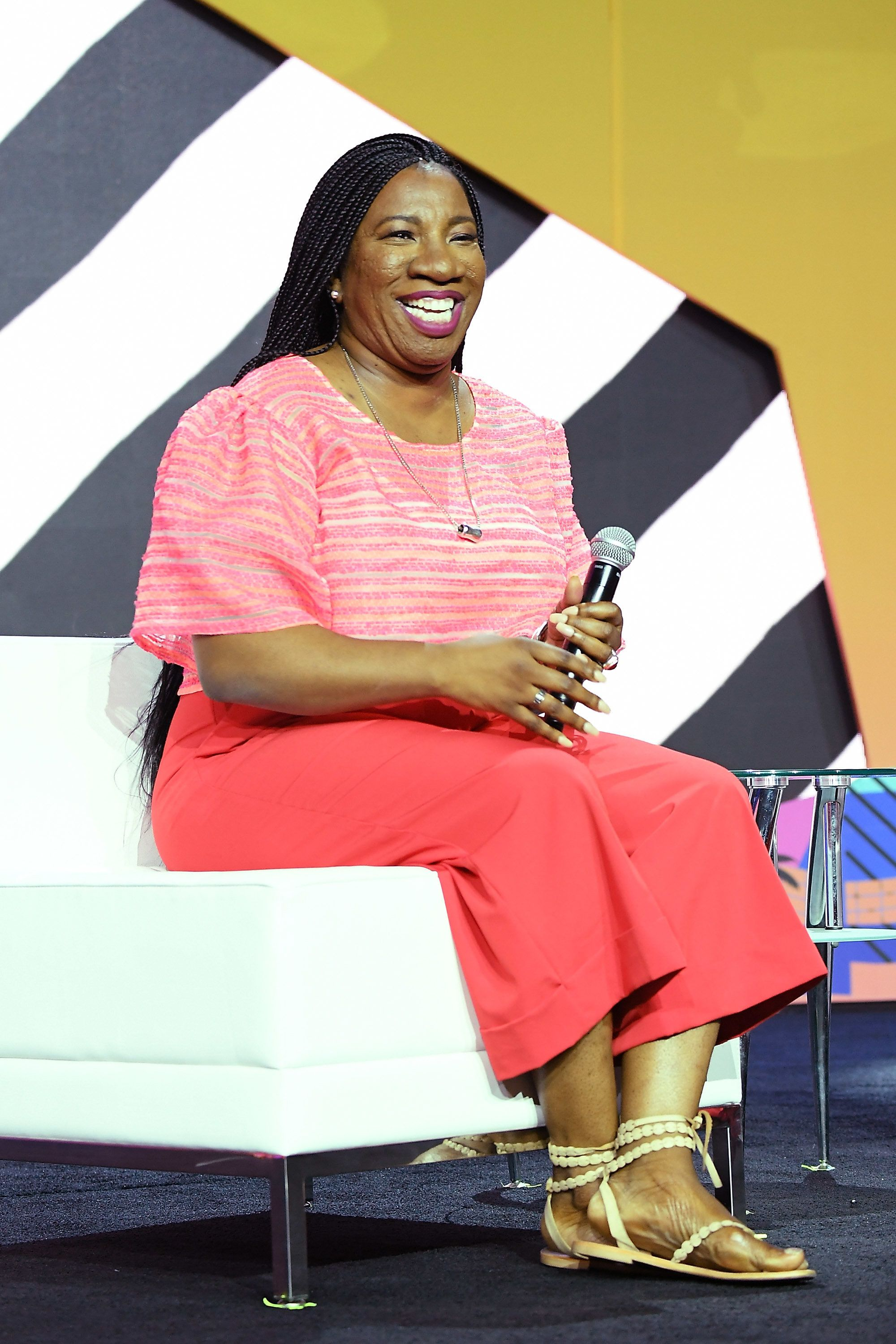 NEW ORLEANS, LA - JULY 06:  Tarana Burke speaks onstage during the 2018 Essence Festival presented by Coca-Cola at Ernest N. Morial Convention Center on July 6, 2018 in New Orleans, Louisiana.  (Photo by Paras Griffin/Getty Images for Essence)