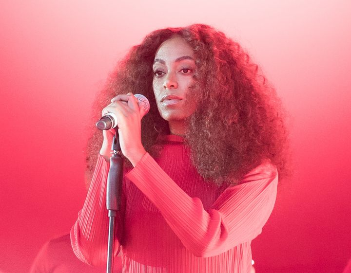 Solange performs at the 2017 Glastonbury Festival in England.