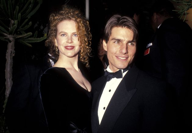Nicole Kidman and Tom Cruise attend the 1991 Annual Academy Awards after