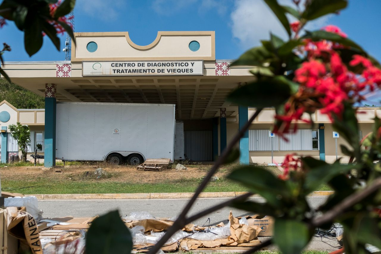 The Diagnostic and Treatment Center in Vieques is closed due to hurricane damage, forcing its patients to go elsewhere.