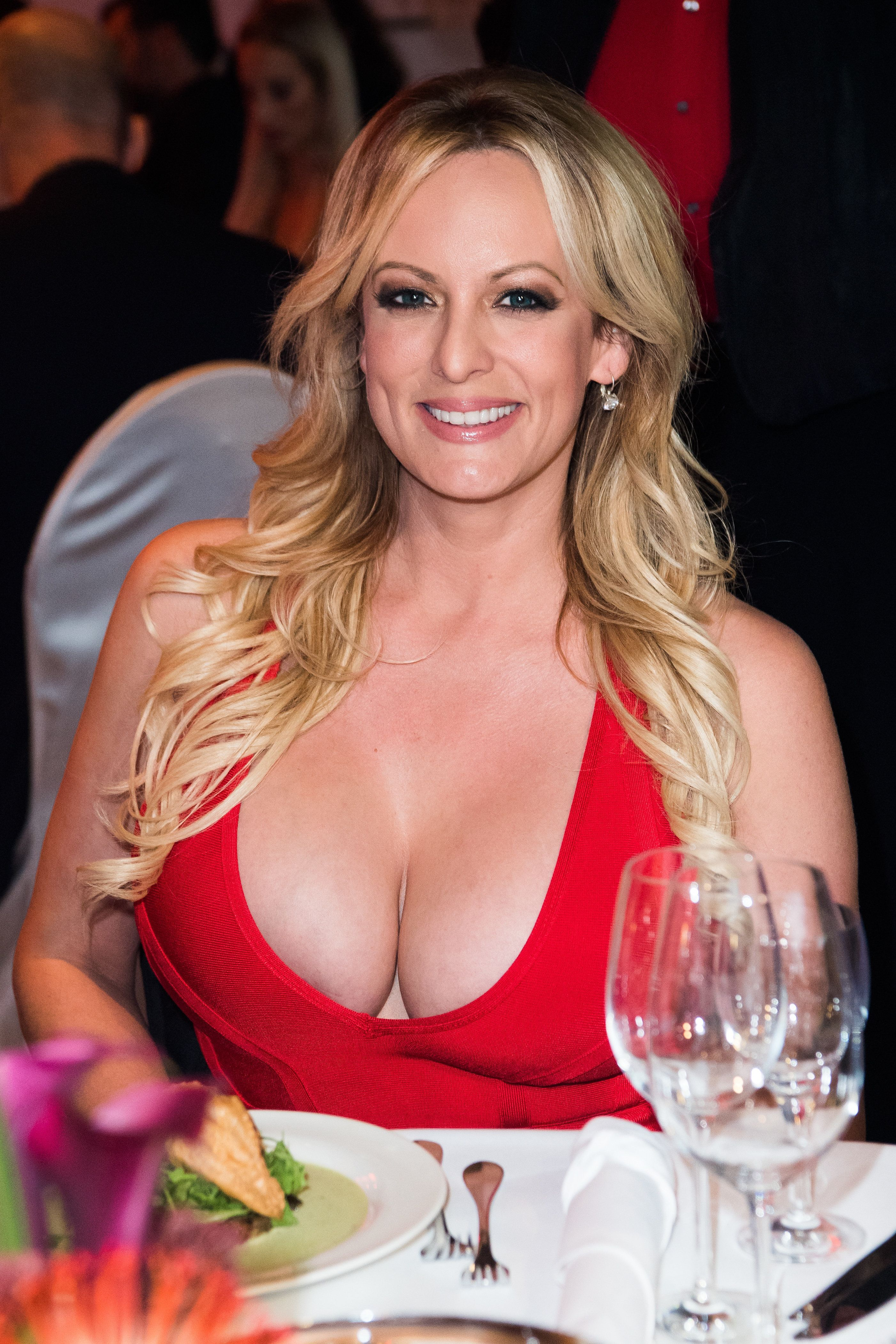 BERLIN, GERMANY - OCTOBER 11:  Stormy Daniels attends the Venus Award during the Venus Erotic Fair 2018 at Hotel Ellington on October 11, 2018 in Berlin, Germany. She was honorated with a special award for her lifetime achievement in the erotic industry.  (Photo by Matthias Nareyek/Getty Images)