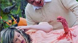 Canadian Couple's Grisly 'Alien'-Themed Maternity Shoot Goes
