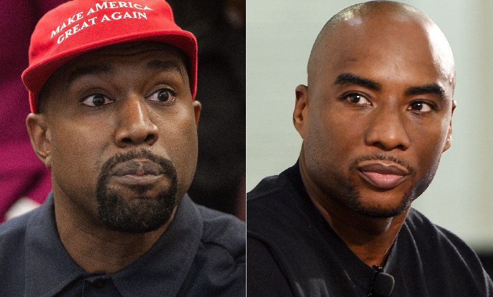 Kanye West, left, and Charlamagne the god