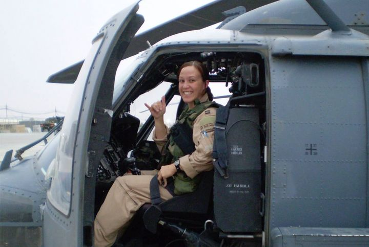 MJ Hegar was awarded a Purple Heart after being wounded in Afghanistan.