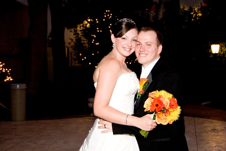 Emily and David Graham on their wedding day in August 2007.