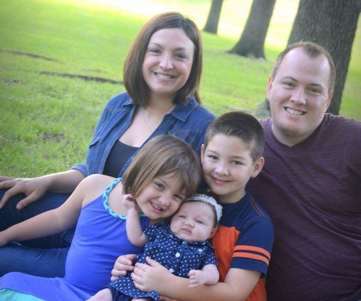 Emily and David Graham with their kids Cameron, Melia and Sienna a few months before their son's death.