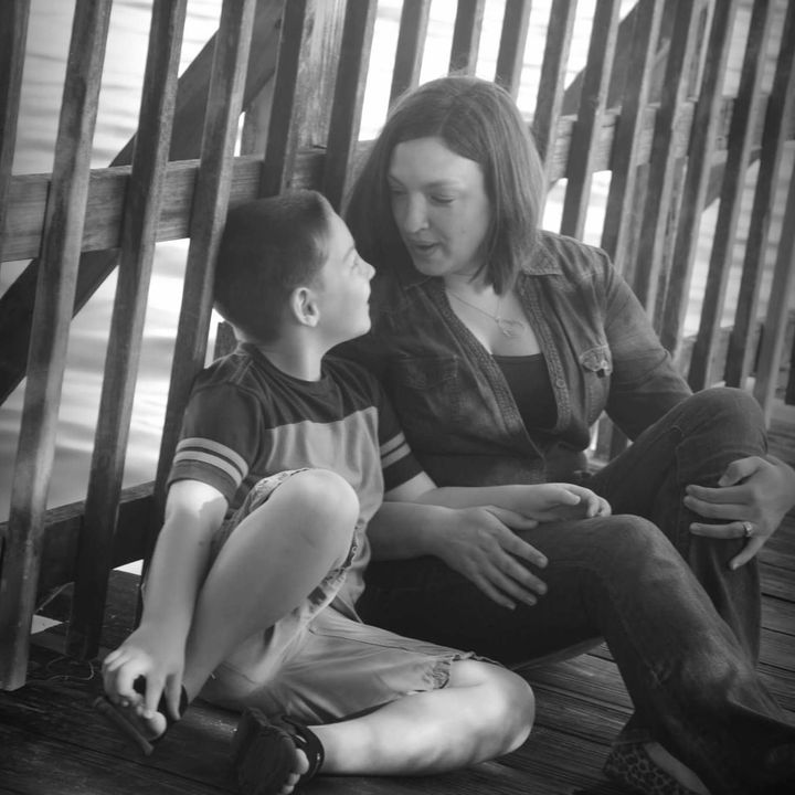 A sweet moment between Emily and and her son Cameron.