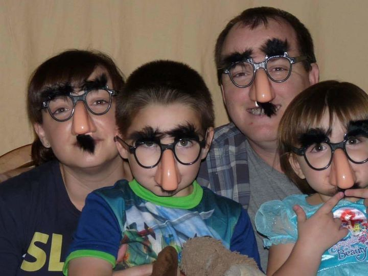 The Grahams being goofy.