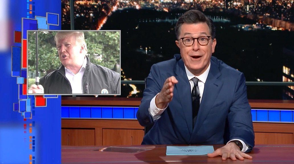 Colbert Rolls Footage Of Trump Going 'Out Of His Way' To Be Extra Awful