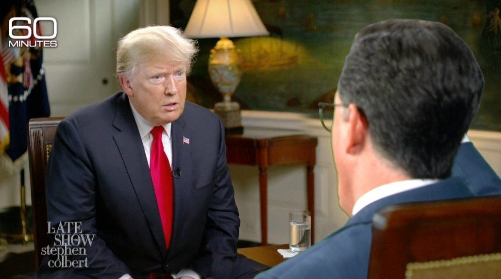 Trump Makes A 'Terrible And Disgusting' Confession In Spoof Colbert Interview