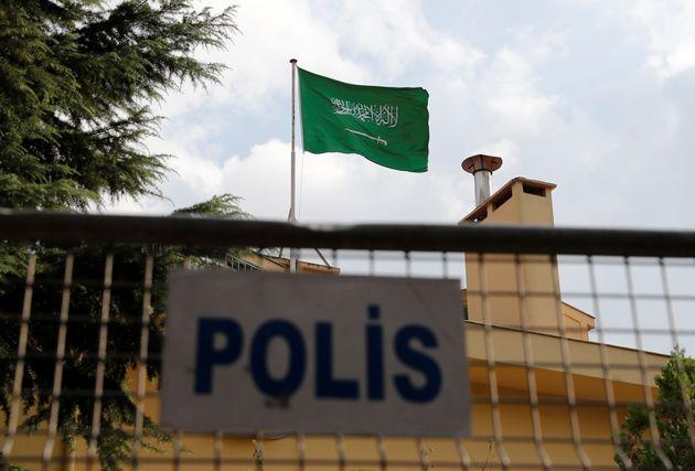 터키 이스탄불에 위치한 사우디아라비아 총영사관의 모습. 2018년
