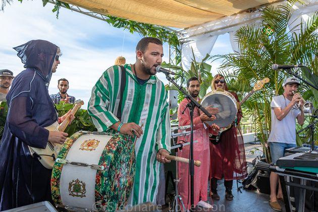 Le groupe belge Stavroz en fusion avec les Issaoua d'Essaouira, le 14 octobre 2018 au festival