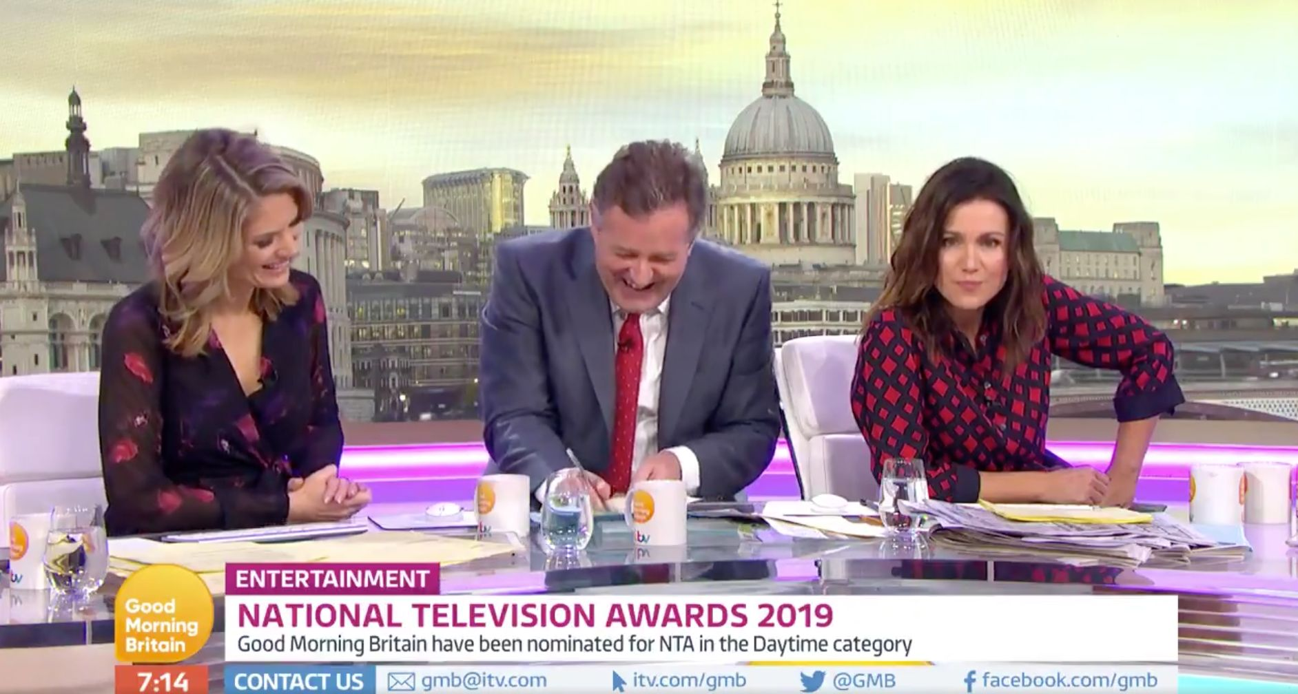 Piers Morgan Goads Susanna Reid And Mocks Ant McPartlin As NTAs Best Presenter Longlist Is