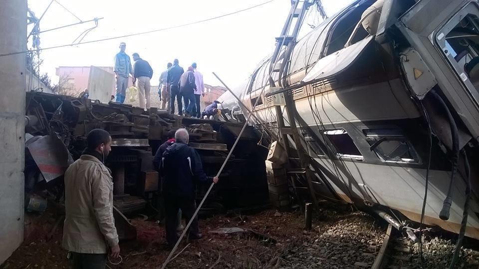 Déraillement d'un train entre Kénitra et Salé, plusieurs blessés