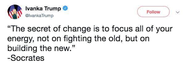 Ivanka Trump's Motivational 'Socrates' Tweet Goes Hilariously