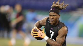 <p>West Virginia running back Justin Crawford 2018 Combine Workout</p>