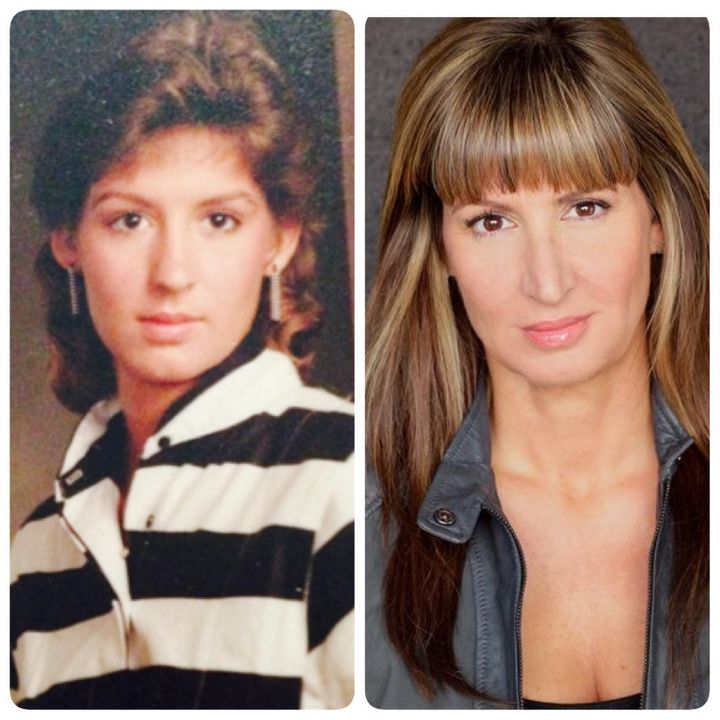 A photo of Donna taken in 1987 (left) and a current photo of Donna.