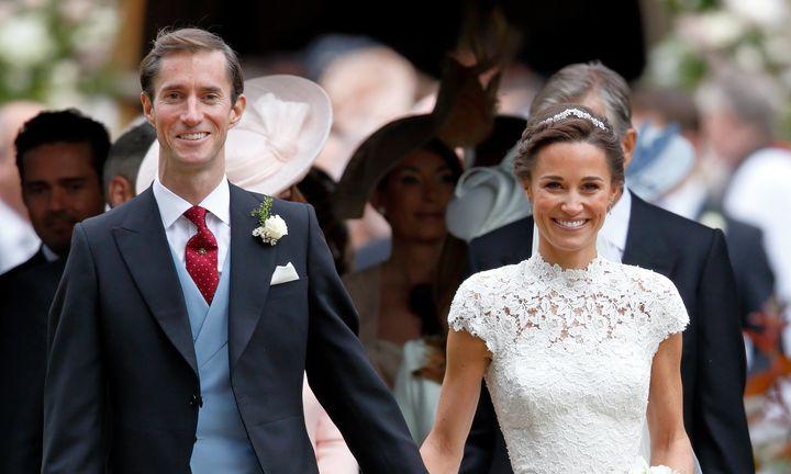 Middleton and Matthews on their wedding day.