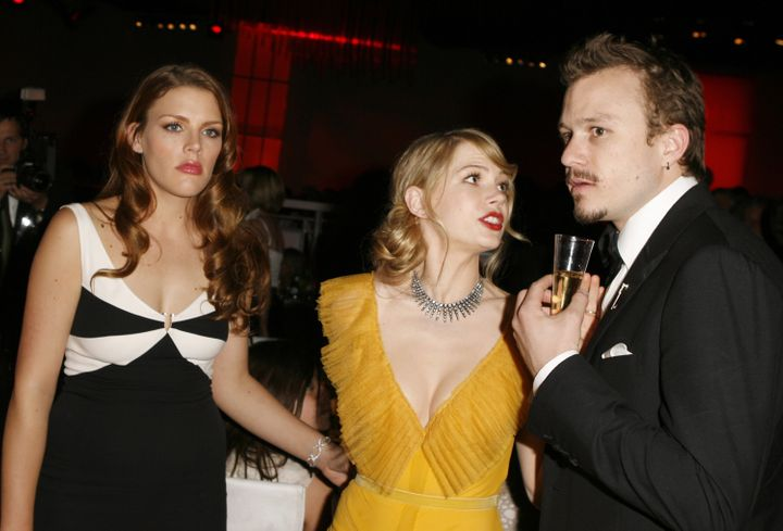 Busy Philipps, Williams and Ledger at Governors Ball in Los Angeles after the 2006 Academy Awards. Williams and Ledger w