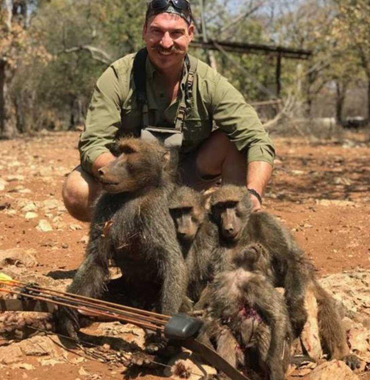 Jäger prahlt mit getöteter Affenfamilie – und verliert seinen