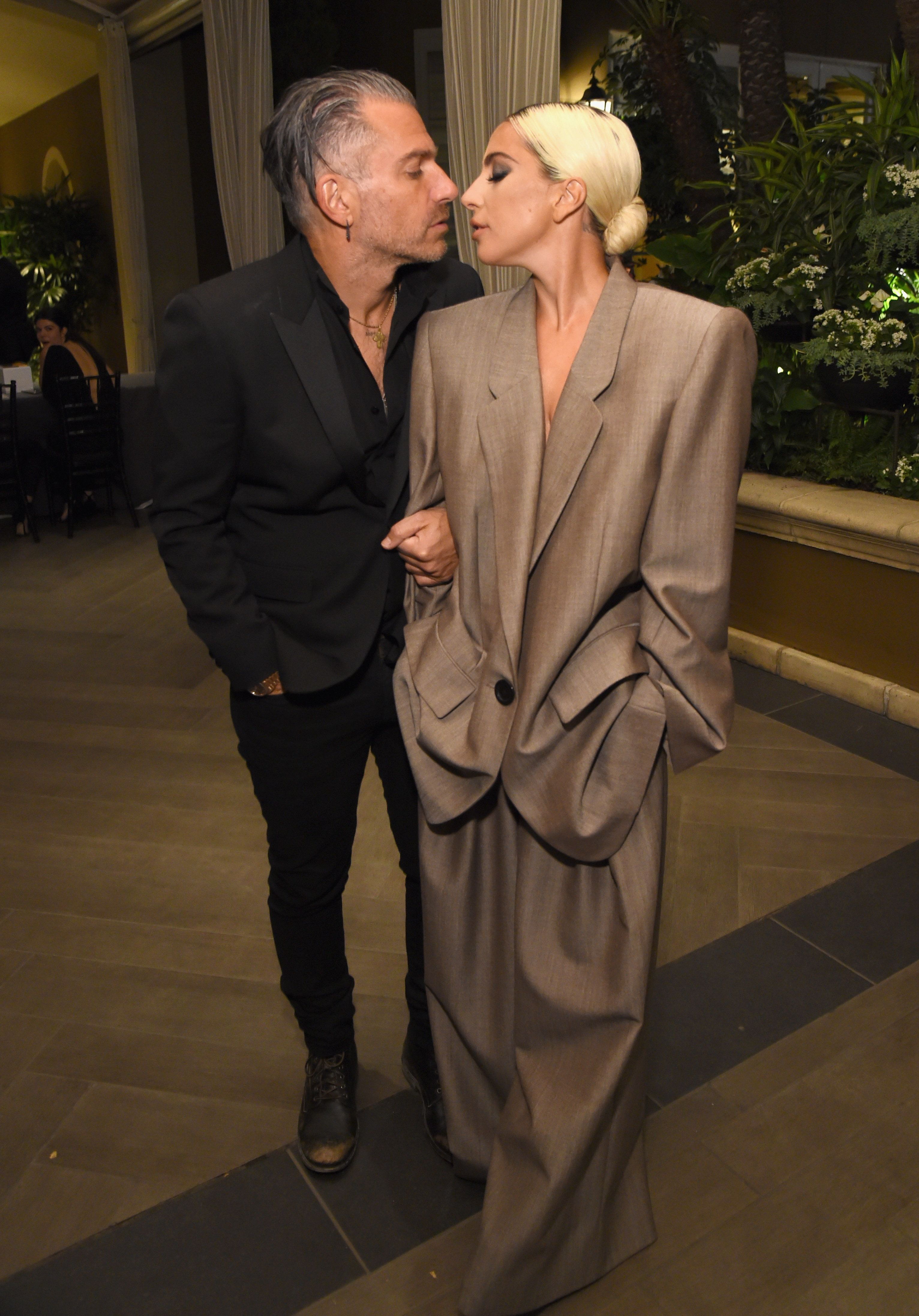 Christian Carino and Lady Gaga attend Elle's Annual Women in Hollywood Celebration on