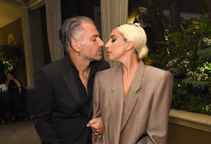 Christian Carino and Lady Gaga attend Elle's Annual Women in Hollywood Celebration on Monday.