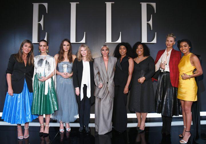 Nina Garcia, Sarah Paulson, Keira Knightley, Mia Farrow, Lady Gaga, Angela Bassett, Shonda Rhimes, Charlize Theron and Yara S