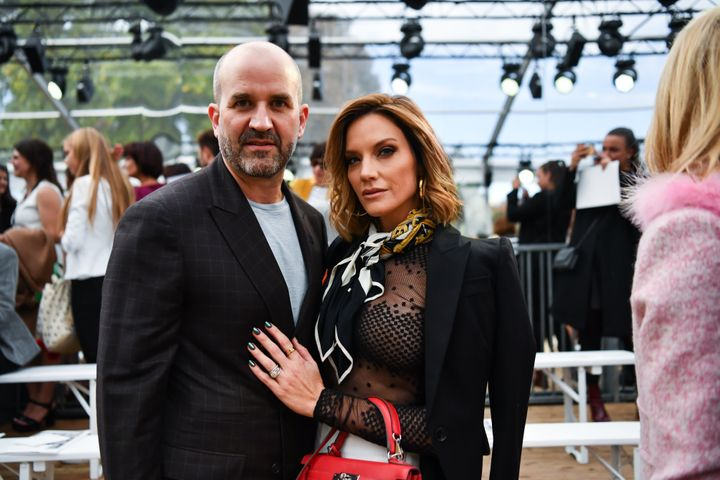 Cary and Mark Deuber atParisFashion Week this month.