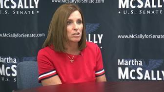 It's Congresswoman Kyrsten Sinema for the Democrats vs Congresswoman Martha McSally for the Republicans.