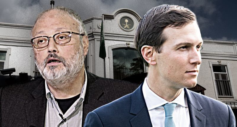 Jamal Khashoggi, Jared Kushner (Photo illustration: Yahoo News; photos: Middle East Monitor/Handout via Reuters, Michael Brochstein/SOPA Images/LightRocket via Getty Images,Chris McGrath/Getty Images)