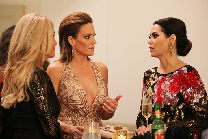 """Stephanie Hollman, left, Cary Deuber and D'Andra Callway Simmons on """"Real Housewives of Dallas."""