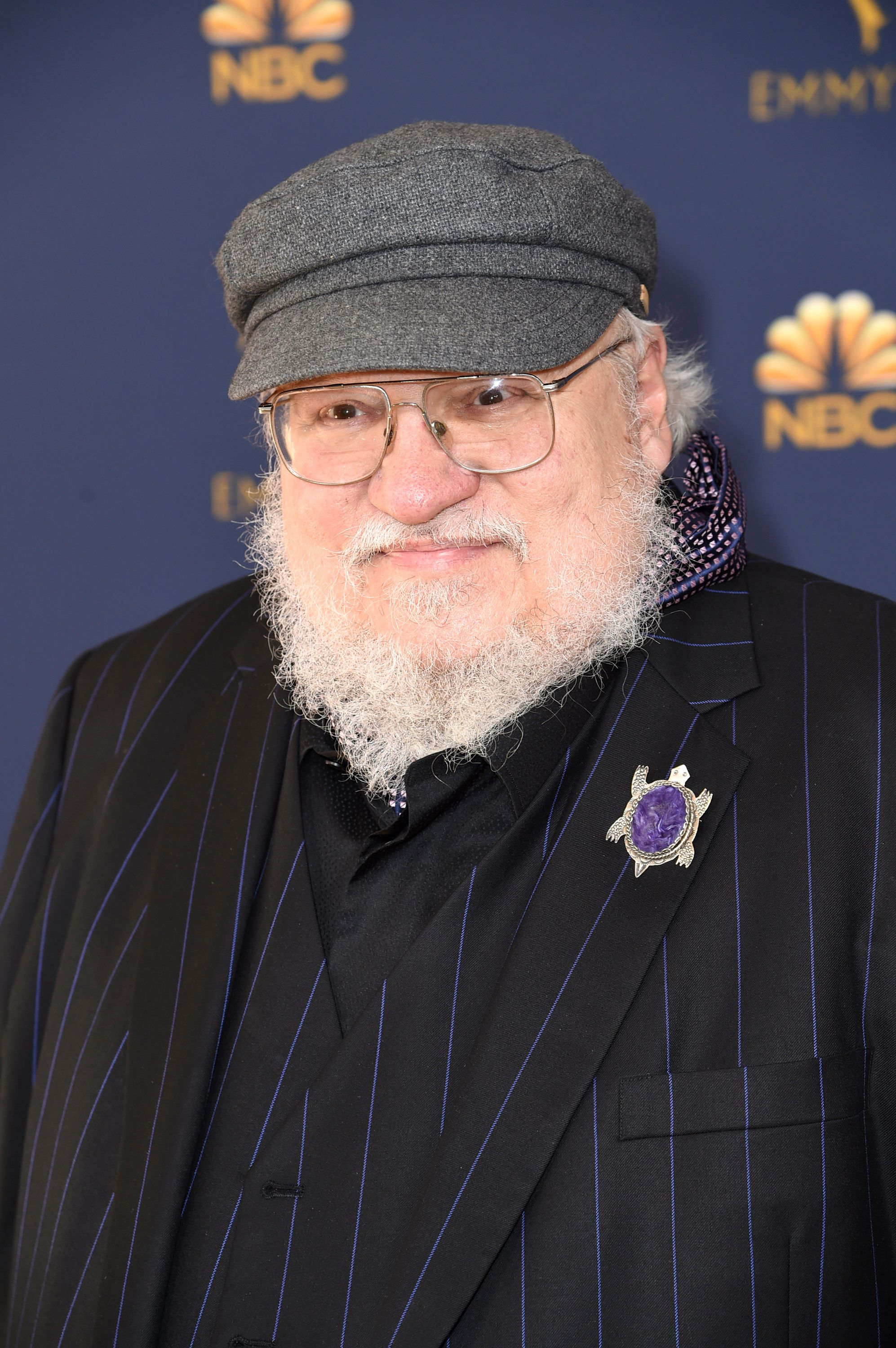 George R. R. Martin at the 2018 Emmys.