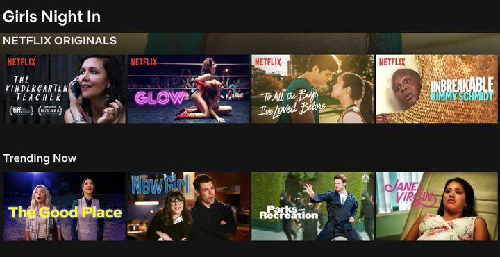 """Girls Night In"" on Netflix."