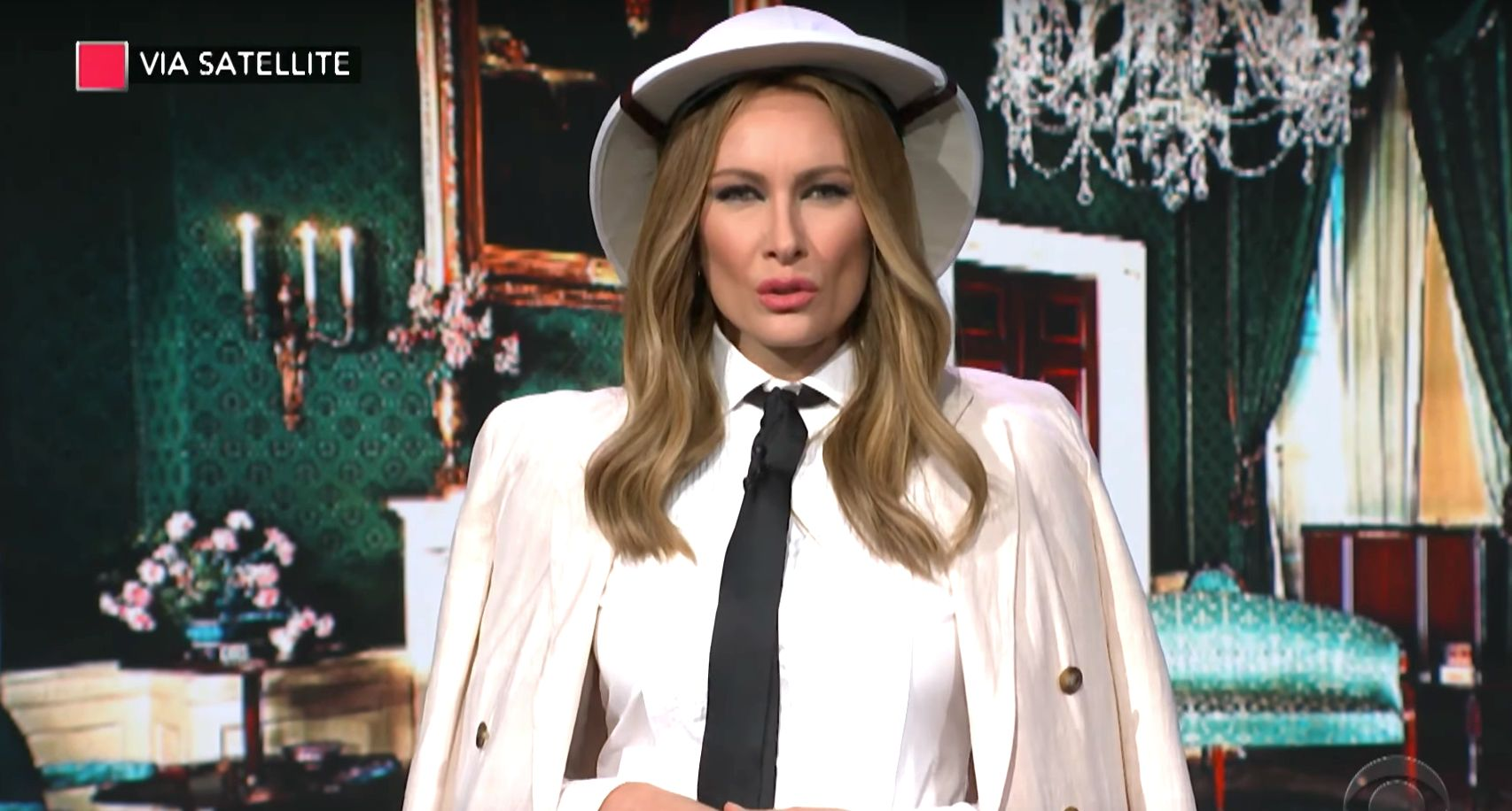 "Fake Melania Trump on ""The Late Show"""