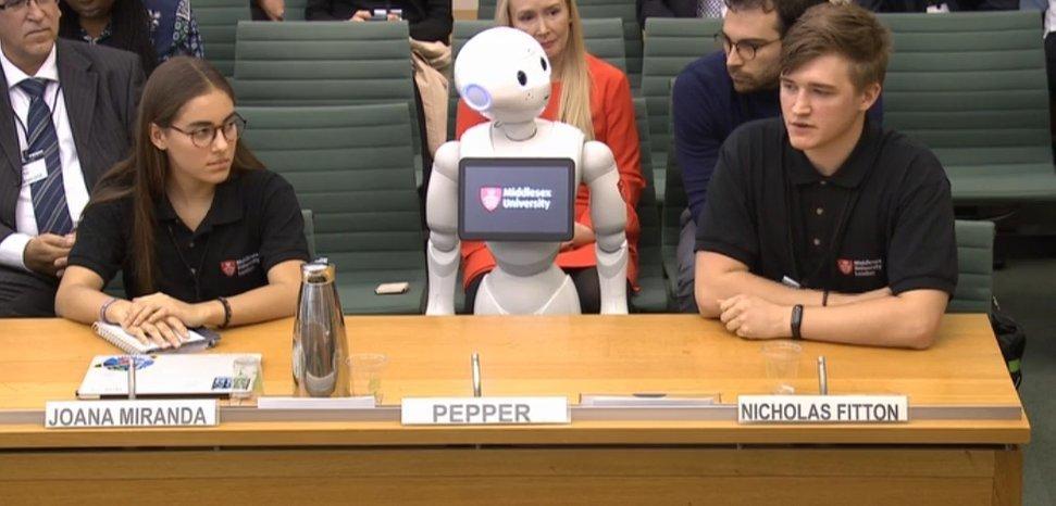 영국 의회에 사상 최초로 '로봇' 증인이 등장했다