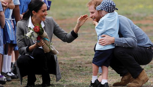 Harry And Meghan Get Enthusiastic Hugs From 5-Year-Old Boy And Our Hearts Are