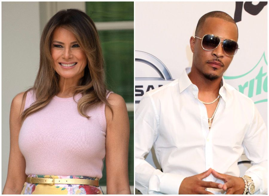 Melania Trump's Rep Slams T.I. Promo Clip Depicting Her As A Stripper In The White