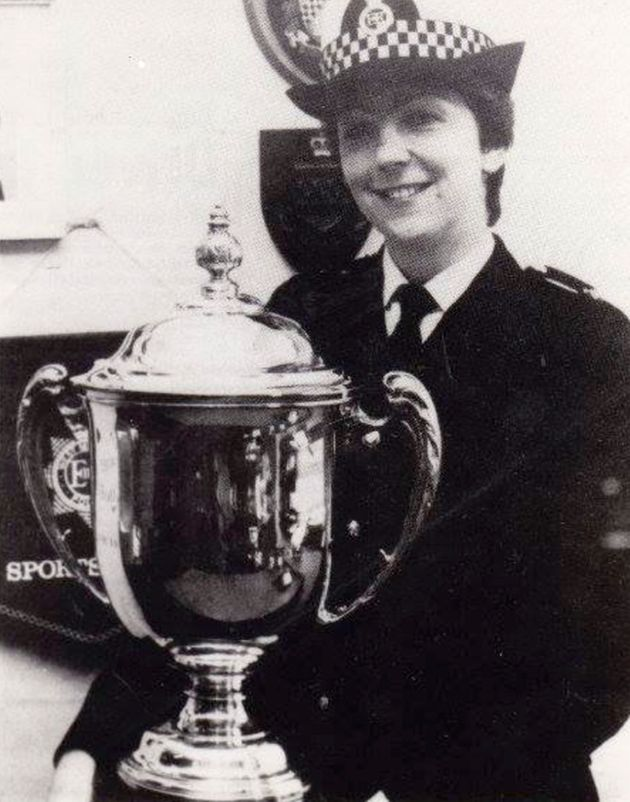 The former policewoman desperately clawed through brickwork and plaster in an effort to free