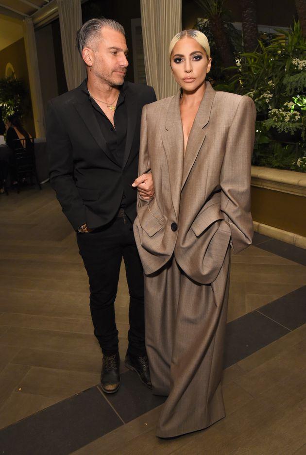 Lady Gaga and fiancéChristian