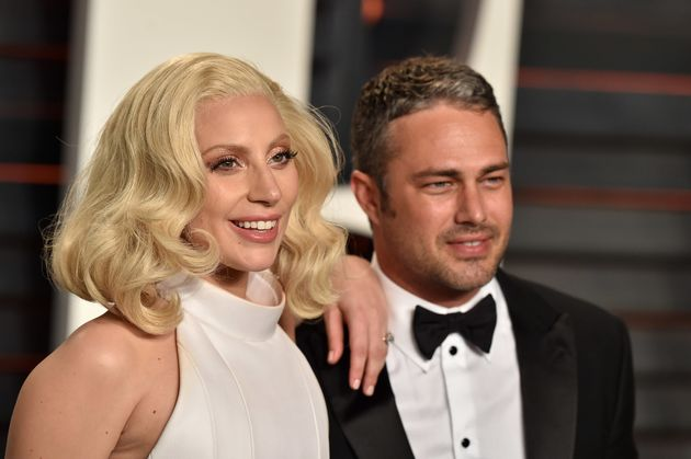 Gaga with former fiancé Taylor