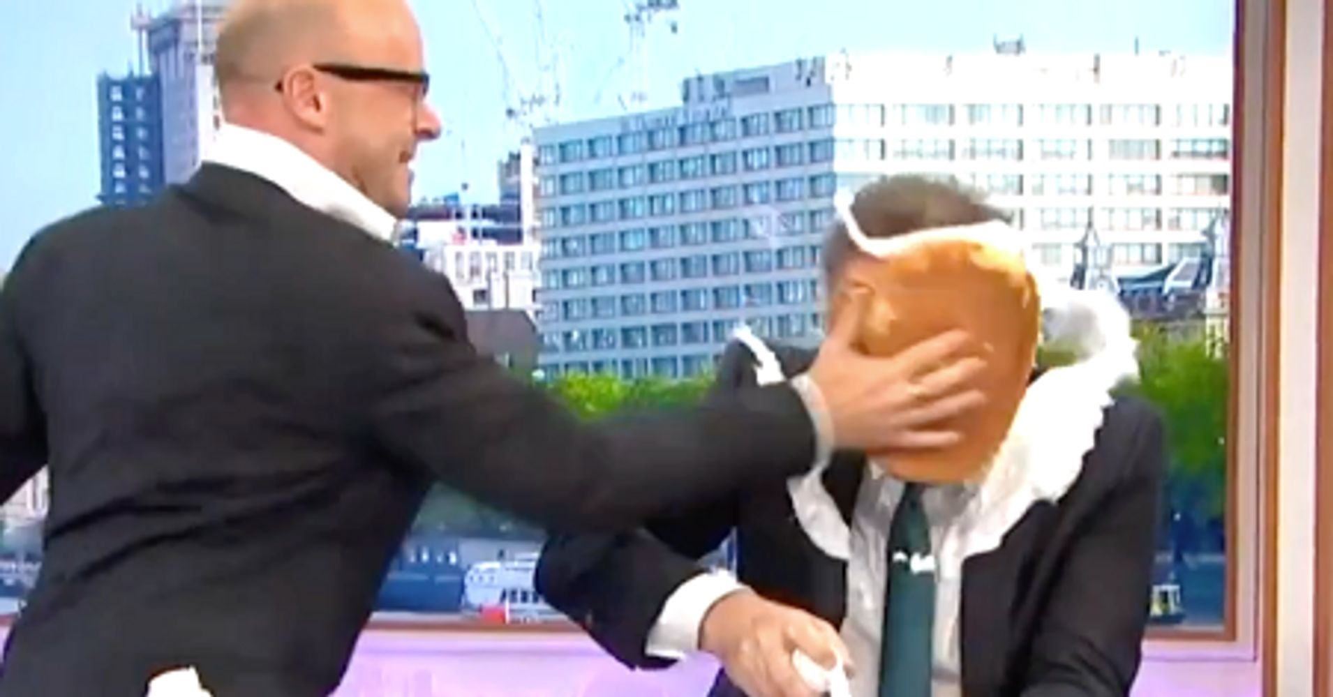 Piers Morgan Gets Pie In The Face On Live TV For Daniel Craig 'Papoose' Comments