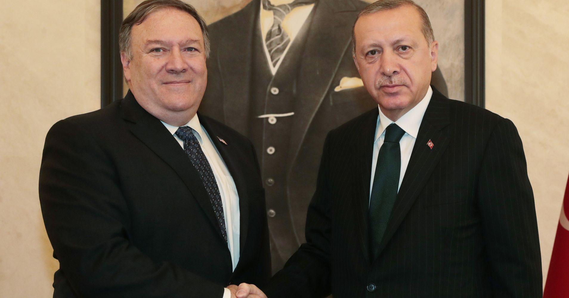 Pompeo Meets With Turkish President Erdogan To Discuss Khashoggi Disappearance