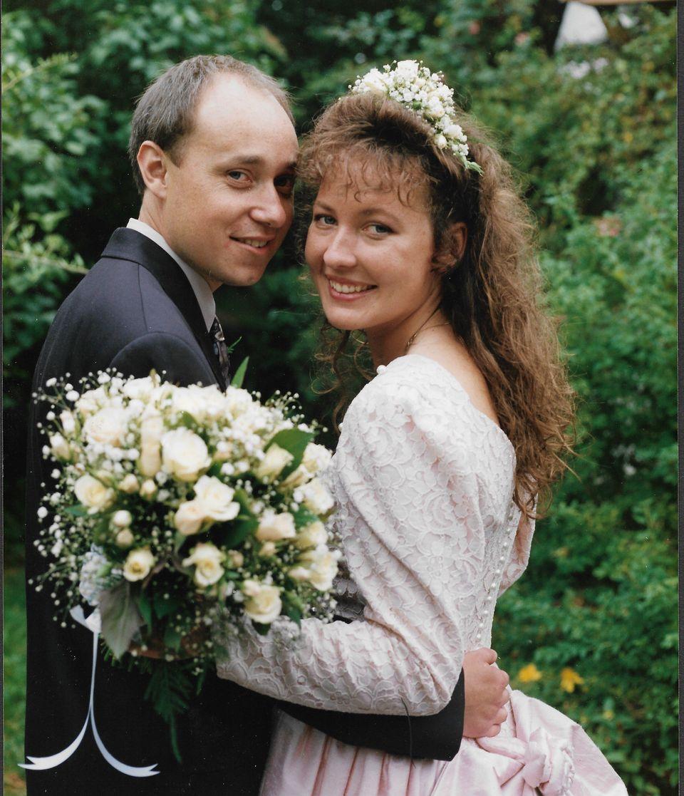 The Hodgkins on their wedding