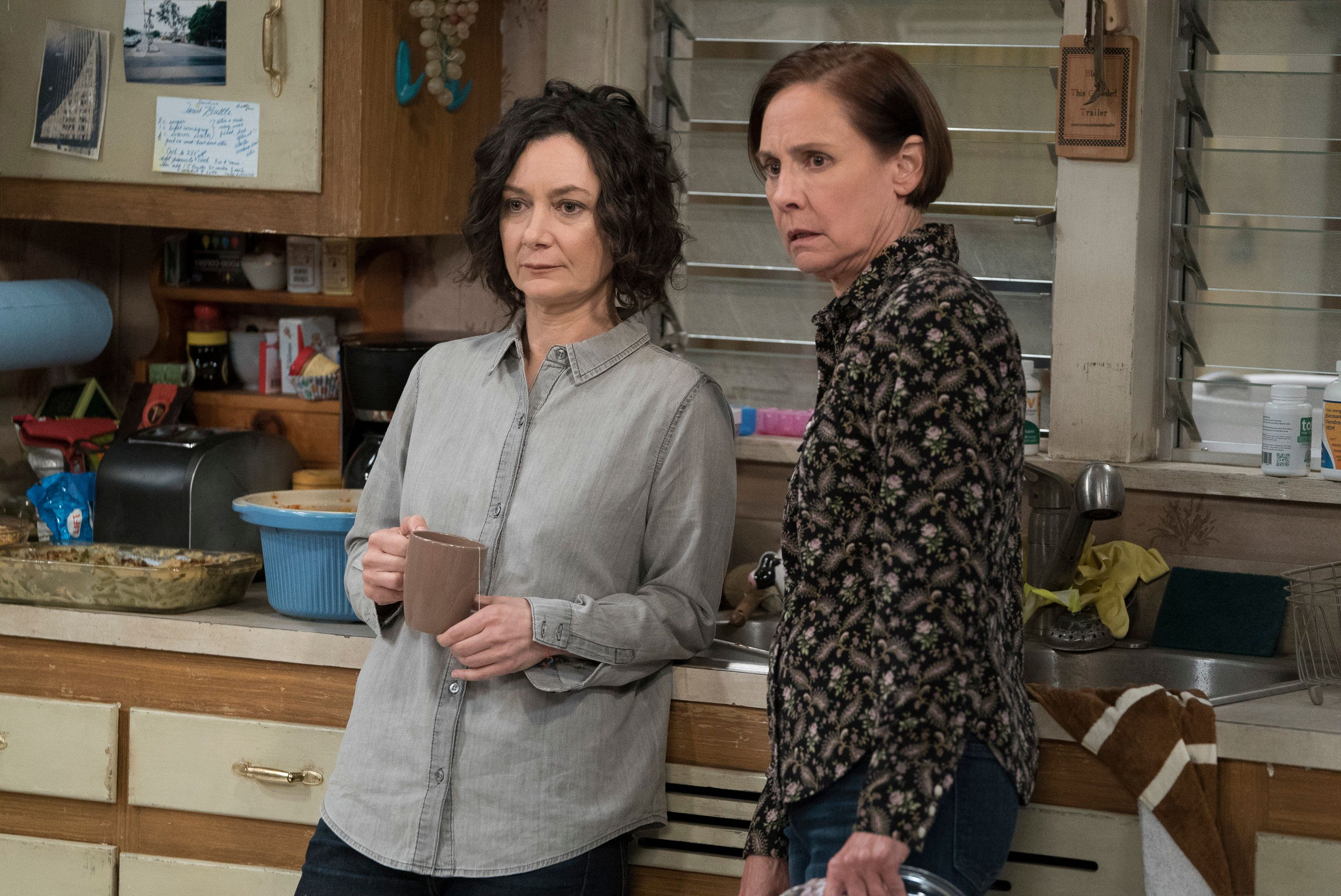 "Sara Gilbert and Laurie Metcalf star in the new ""Roseanne"" spinoff ""The Conners."""