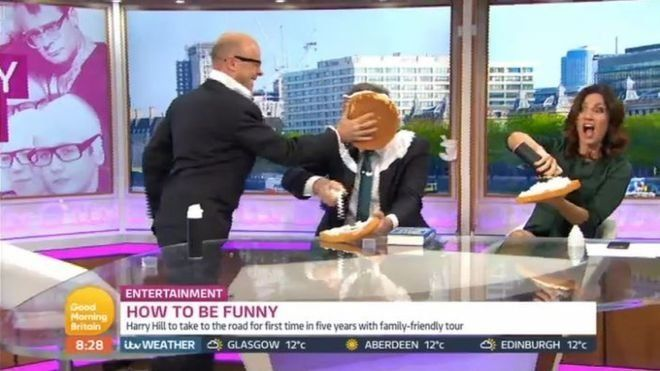 Can We All Take A Moment To Thank Harry Hill After He Pies Piers Morgan For Those Papoose