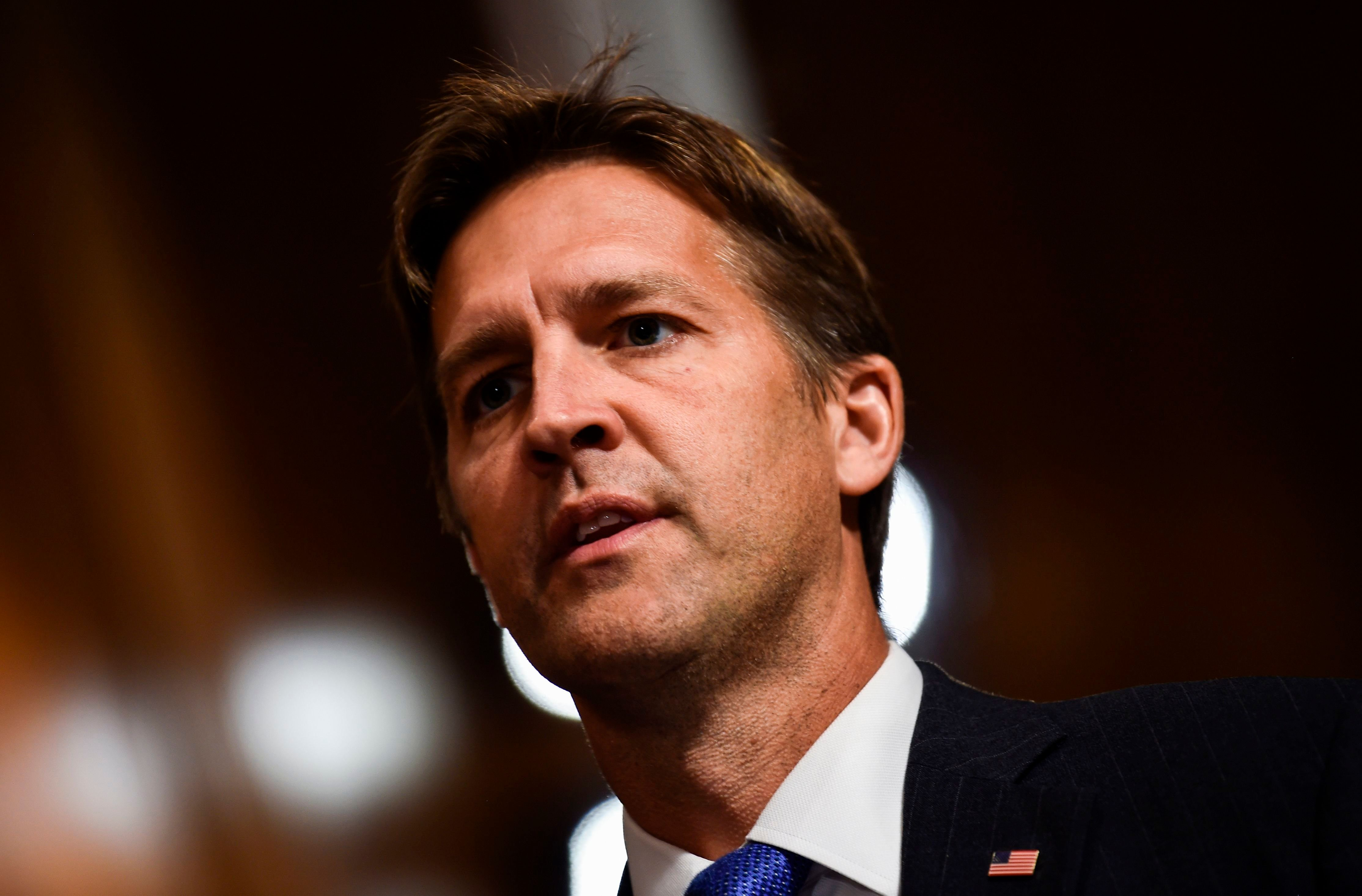 Senate Judiciary Committee member Senator Ben Sasse (R-NE) looks on during a markup hearing on Capitol Hill in Washington, DC on September 28, 2018, on the nomination of Brett M. Kavanaugh to be an associate justice of the Supreme Court of the United States. - Kavanaugh's contentious Supreme Court nomination will be put to an initial vote Friday, the day after a dramatic Senate hearing saw the judge furiously fight back against sexual assault allegations recounted in harrowing detail by his accuser. (Photo by Brendan SMIALOWSKI / AFP)        (Photo credit should read BRENDAN SMIALOWSKI/AFP/Getty Images)