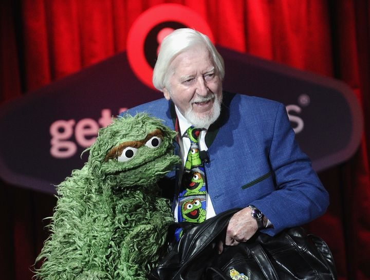 Spinney and Oscar the Grouch.